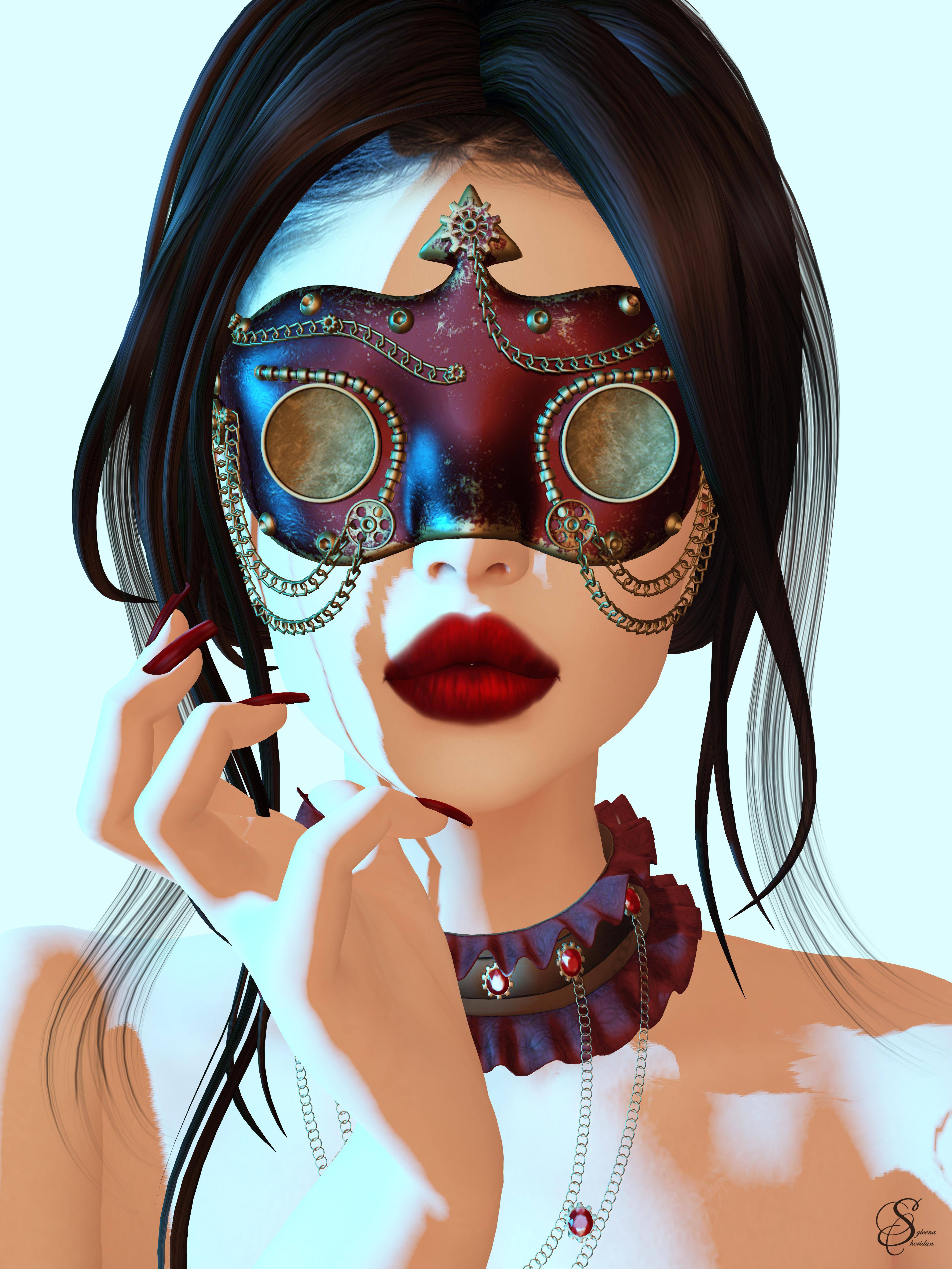 #2044 wicca mask with collar_001
